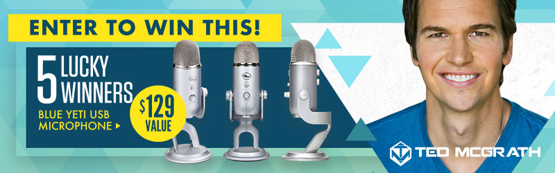 5 Lucky Winners! Enter To Win This Blue Yeti USB Microphone! $129 Value! CLICK HERE NOW